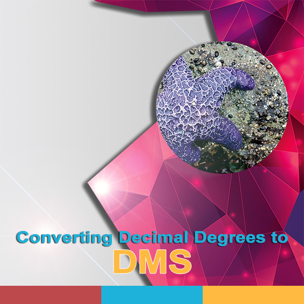 Converting Decimal Degrees to Degrees, Minutes & Seconds